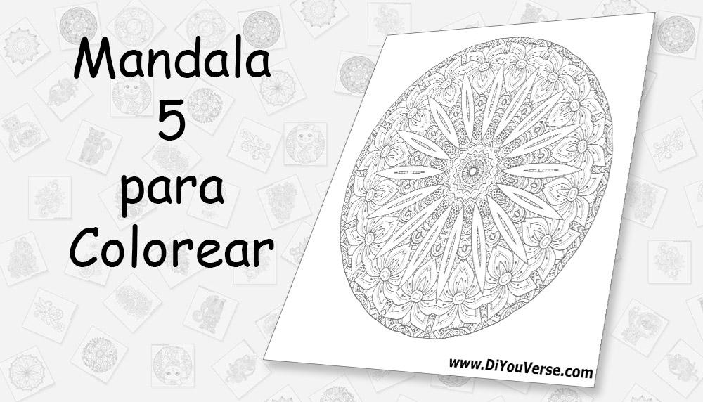 Mandala 5 para Colorear