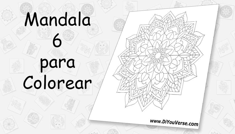 Mandala 6 para Colorear