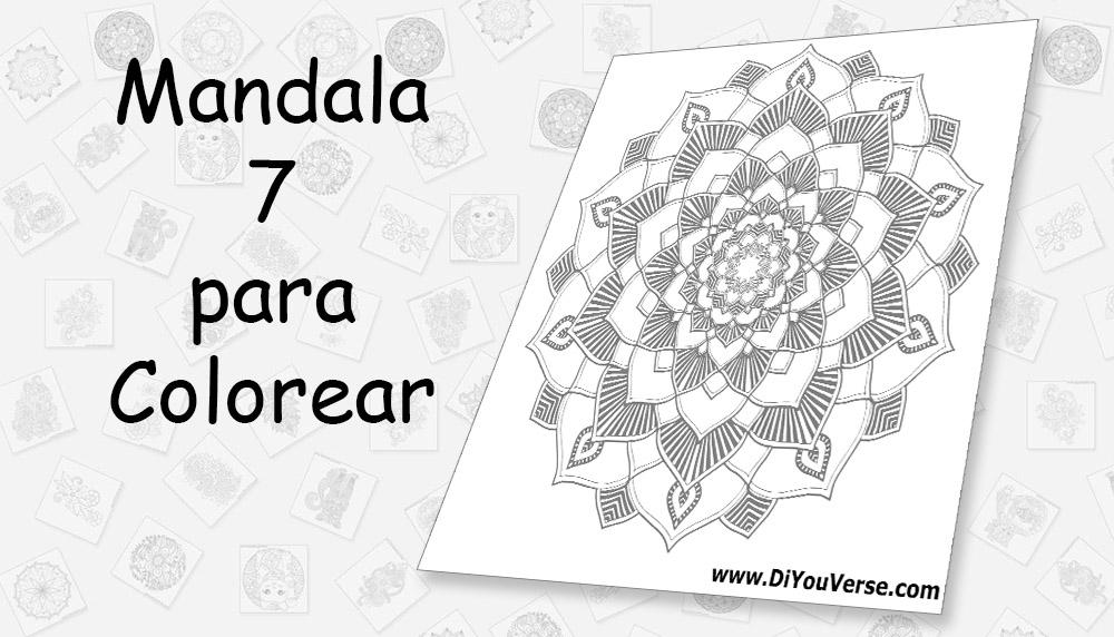 Mandala 7 para Colorear