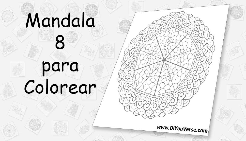 Mandala 8 para Colorear