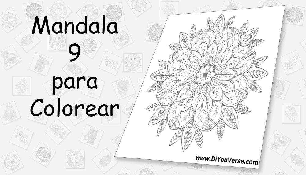 Mandala 9 para Colorear
