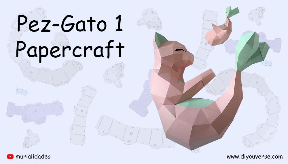 Pez-Gato 1 Papercraft