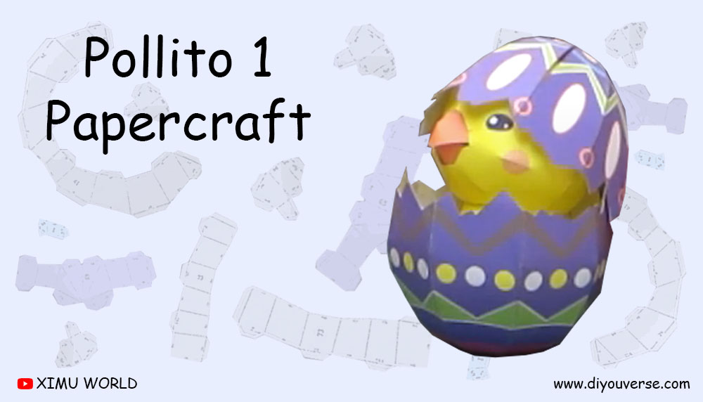 Pollito 1 Papercraft