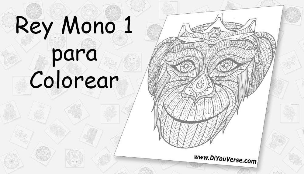 Rey Mono 1 para Colorear