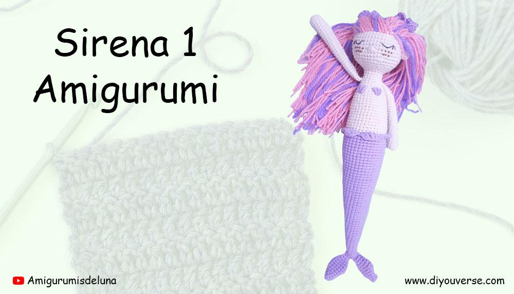 Sirena 1 Amigurumi