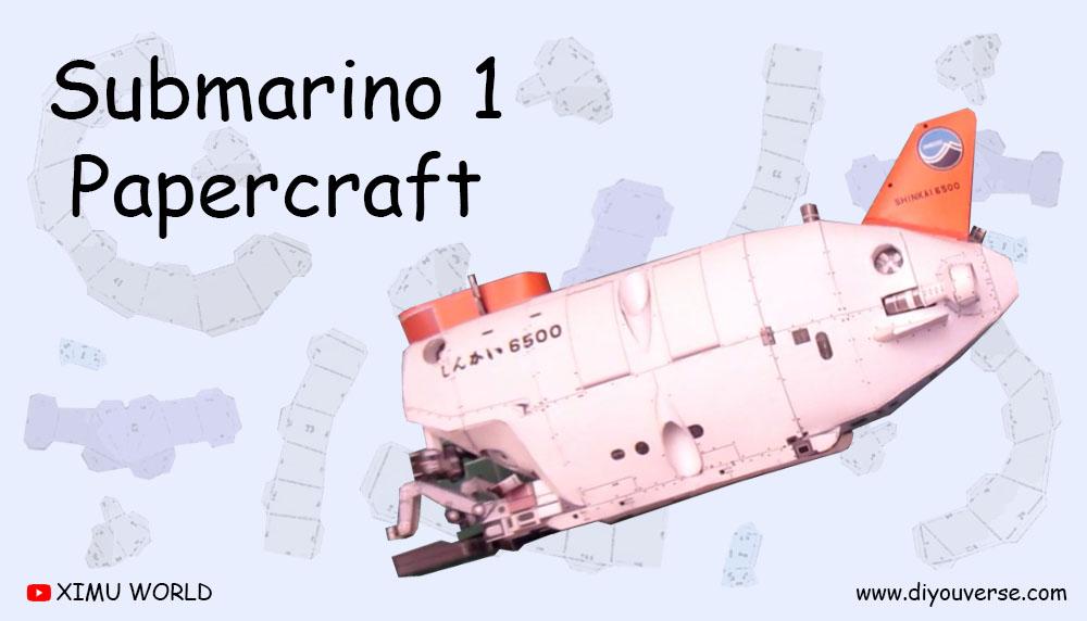 Submarino 1 Papercraft