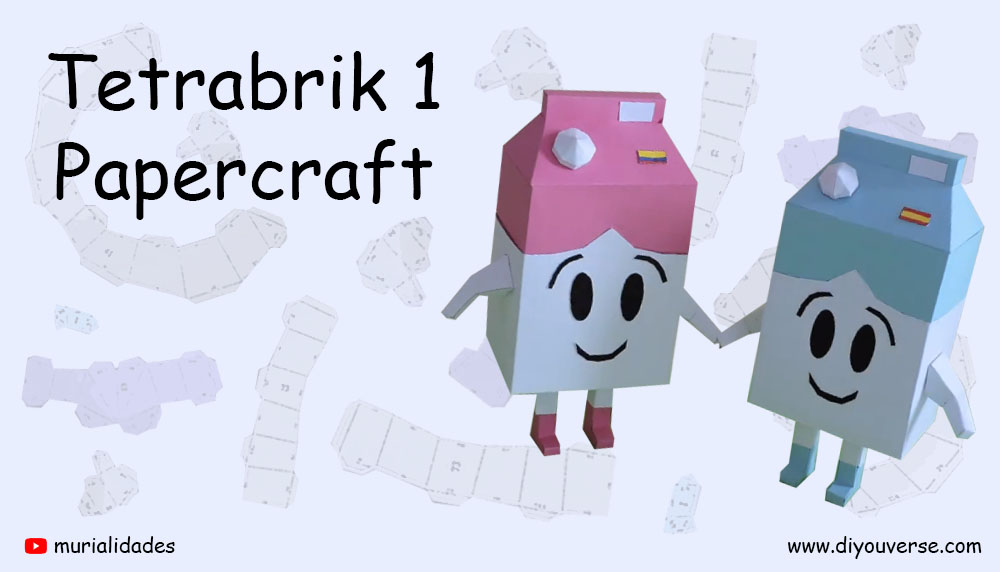 Tetrabrick 1 Papercraft