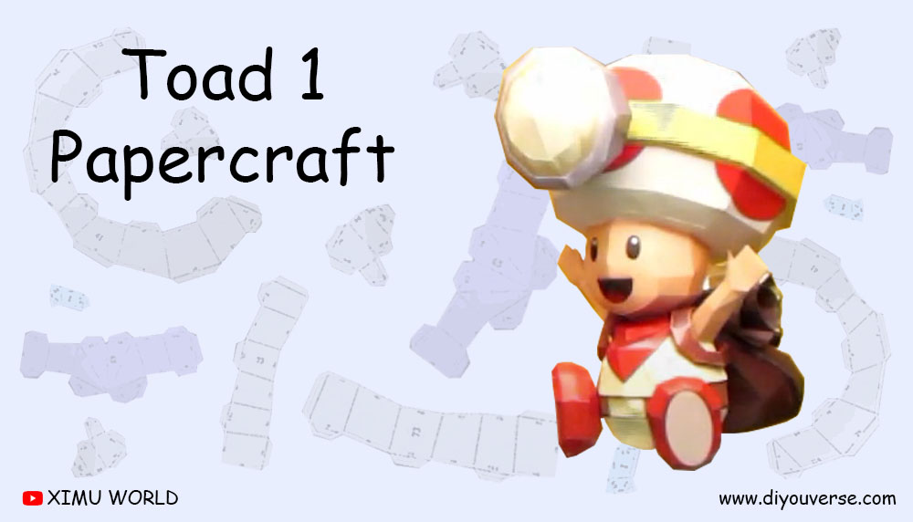 Toad 1 Papercraft