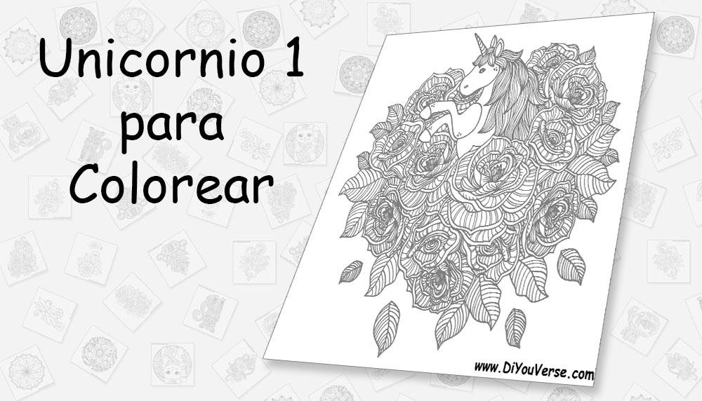 Unicornio 1 para Colorear