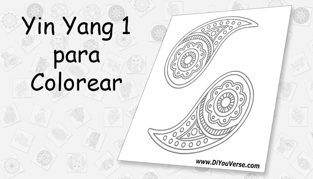 Yin Yang 1 para Colorear