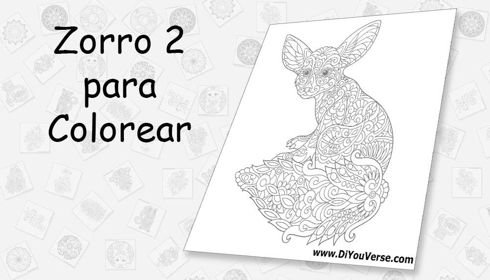 Zorro 2 para Colorear