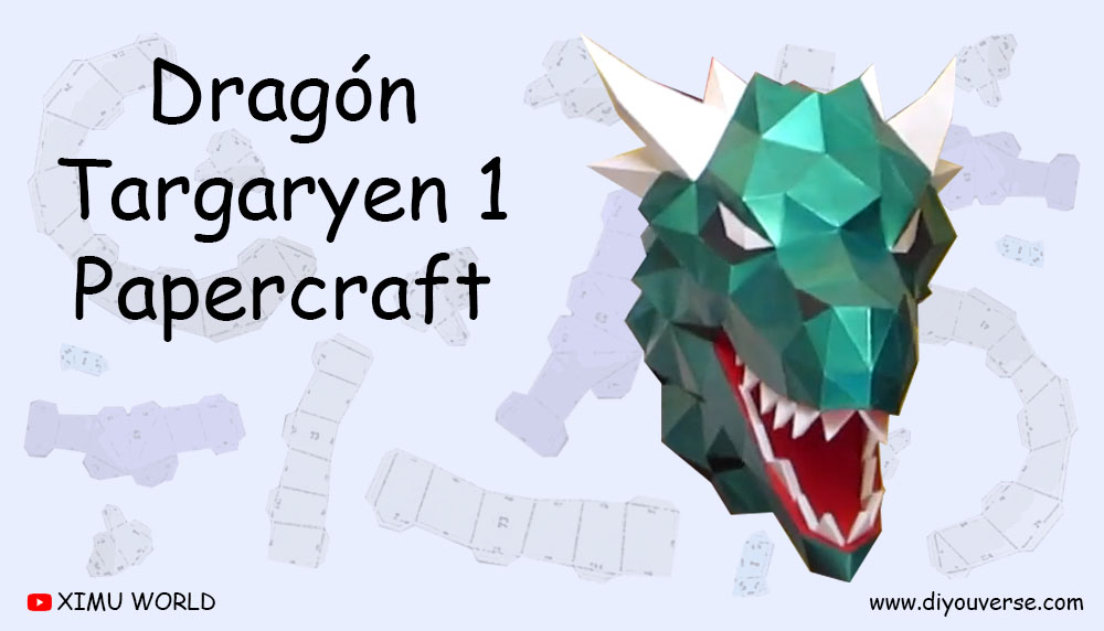 Dragón Targaryen 1 Papercraft