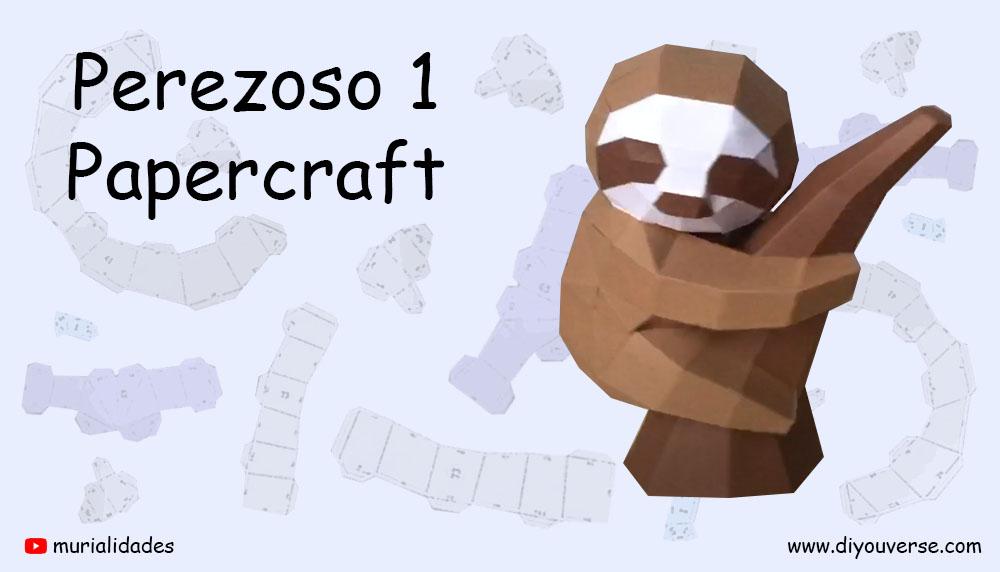 Perezoso 1 Papercraft