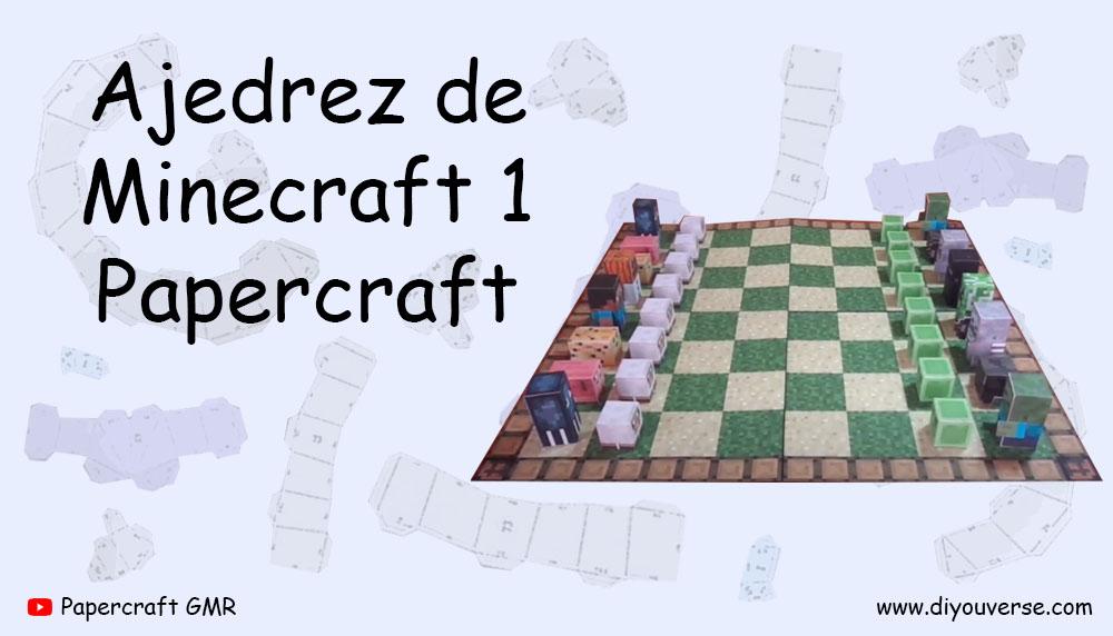 Ajedrez de Minecraft 1 Papercraft