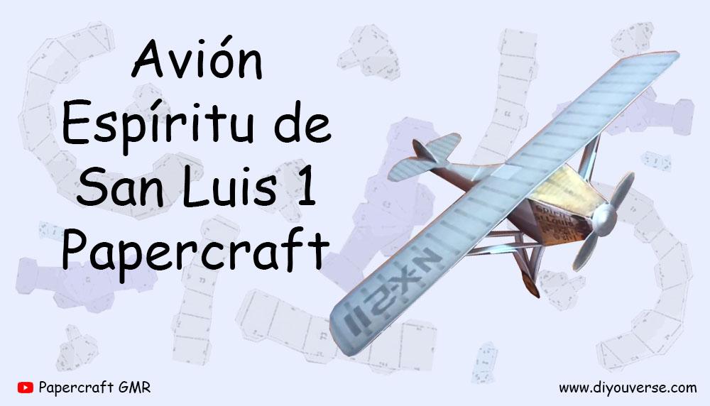 Avión Espíritu de San Luis 1 Papercraft