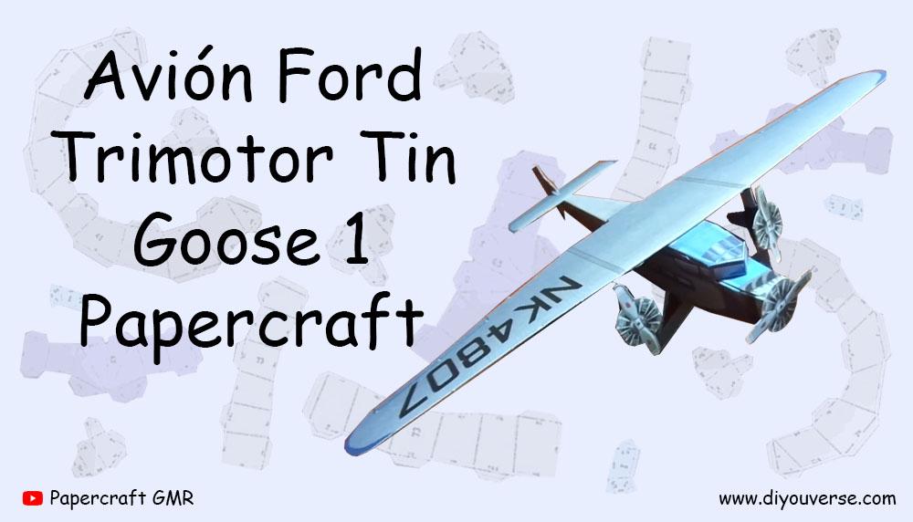 Avión Ford Trimotor Tin Goose 1 Papercraft