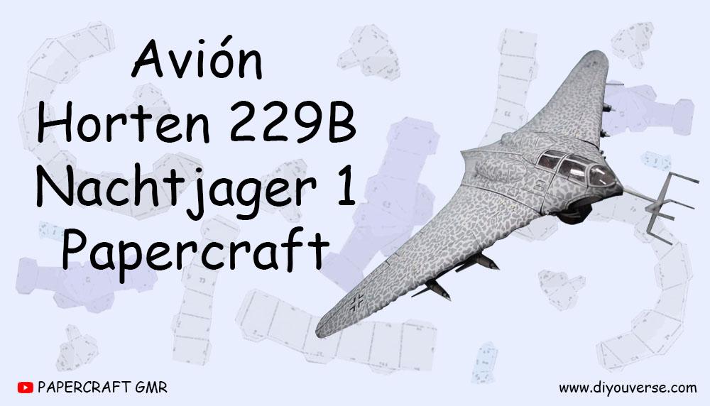 Avión Horten 229B Nachtjager 1 Papercraft