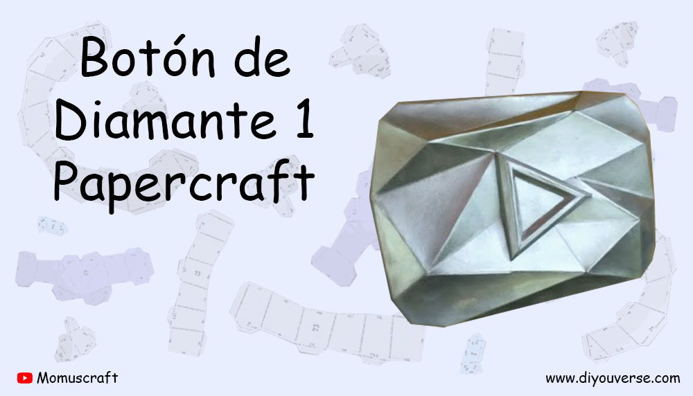 Botón de Diamante 1 Papercraft