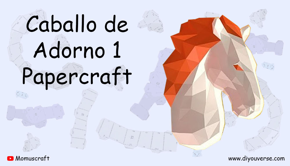 Caballo de Adorno 1 Papercraft