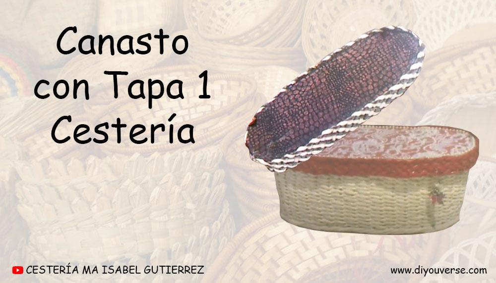 Canasto con Tapa 1 Cestería