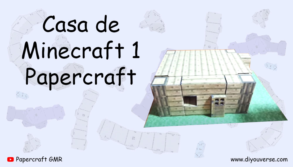 Casa de Minecraft 1 Papercraft