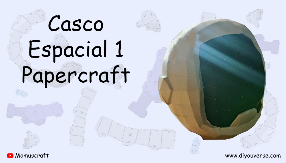 Casco Espacial 1 Papercraft
