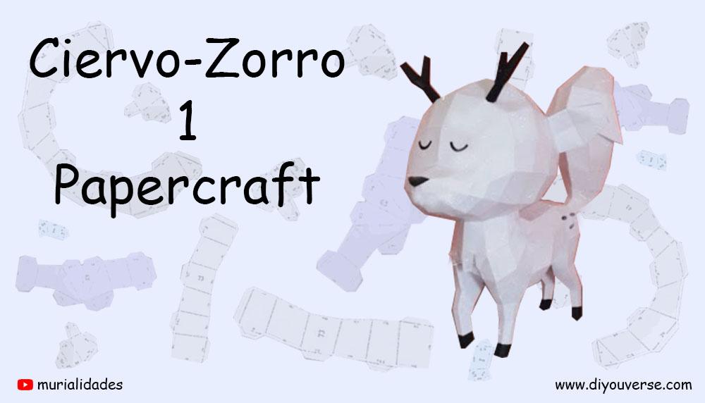 Ciervo-Zorro 1 Papercraft