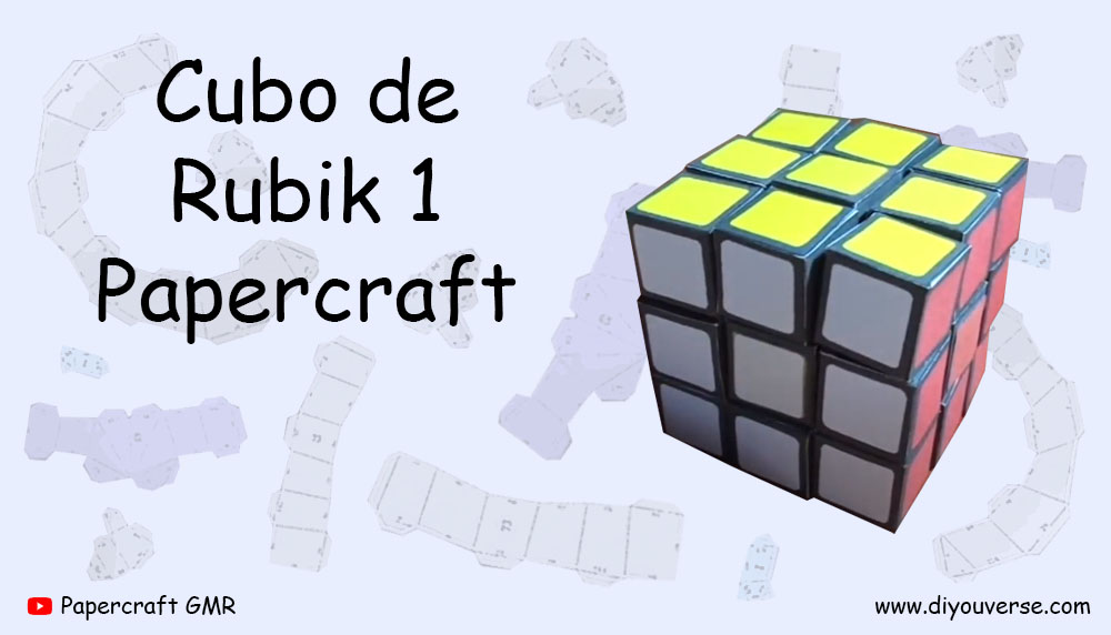 Cubo de Rubik 1 Papercraft
