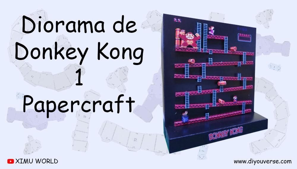 Diorama de Donkey Kong 1 Papercraft