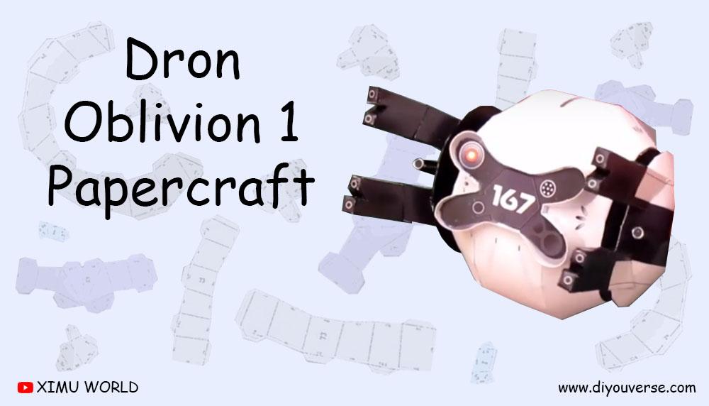 Dron Oblivion 1 Papercraft