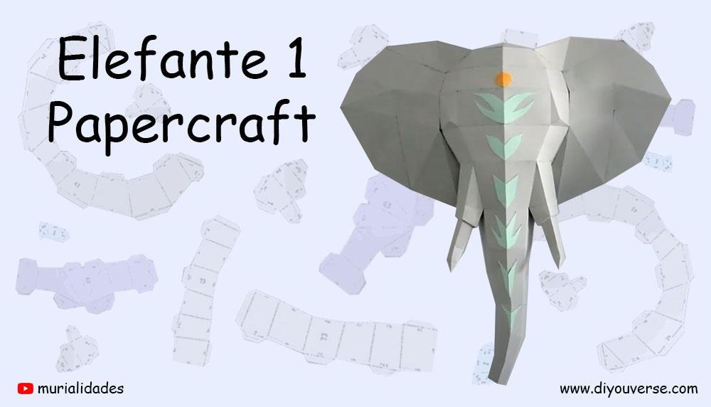 Elefante 1 Papercraft