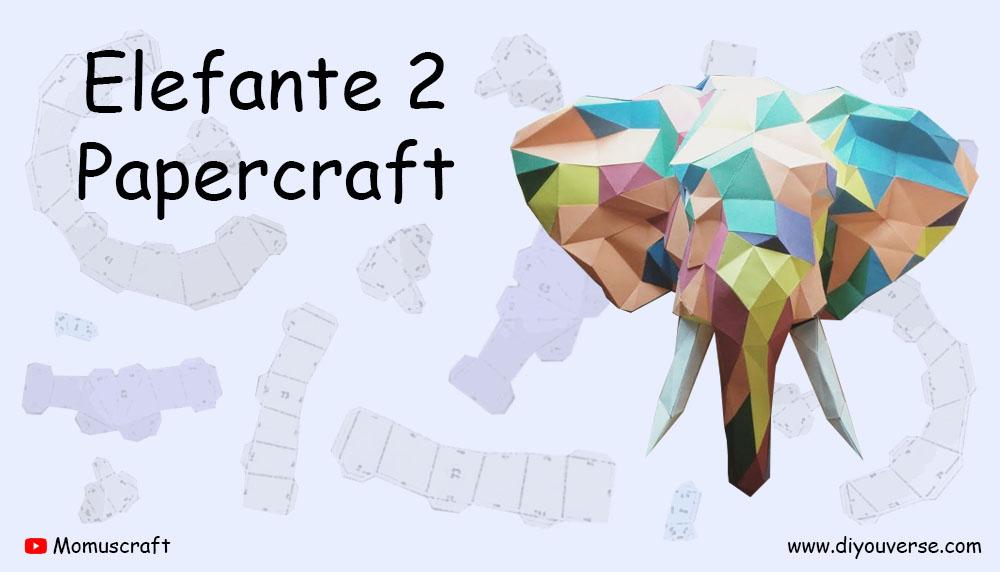 Elefante 2 Papercraft