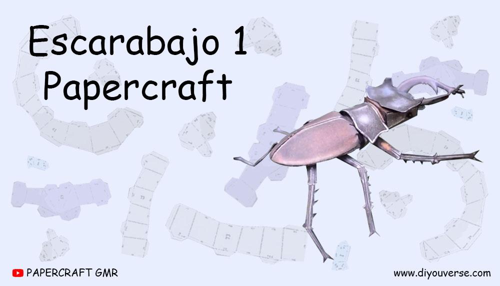 Escarabajo 1 Papercraft