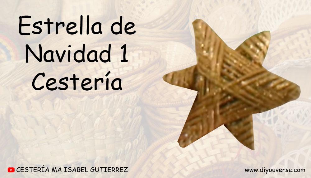Estrella de Navidad 1 Cestería