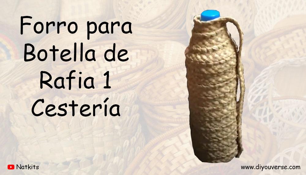 Forro para Botella de Rafia 1 Cestería