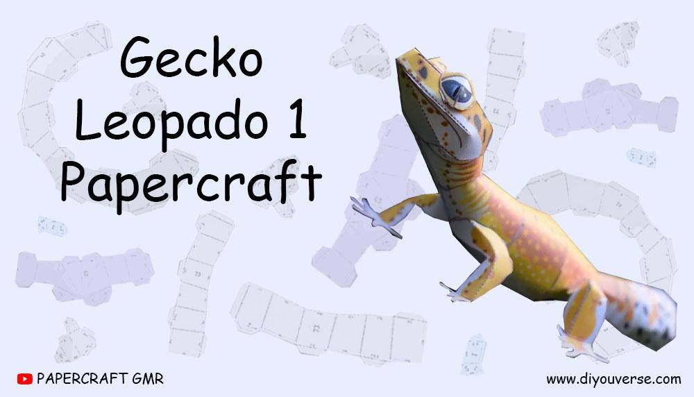 Gecko Leopardo 1 Papercraft