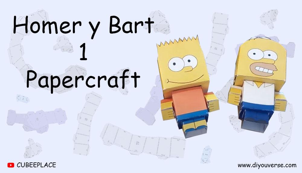 Homer y Bart 1 Papercraft