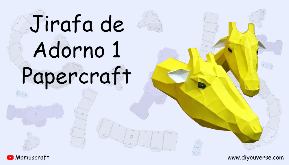 Jirafa de Adorno 1 Papercraft
