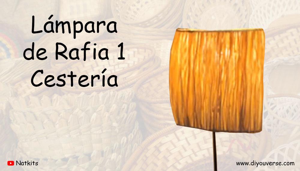 Lámpara de Rafia 1 Cestería