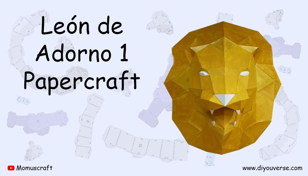 León de Adorno 1 Papercraft