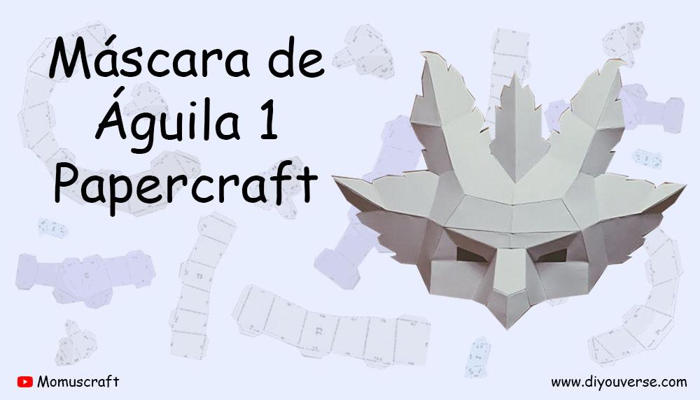 Máscara de Águila 1 Papercraft
