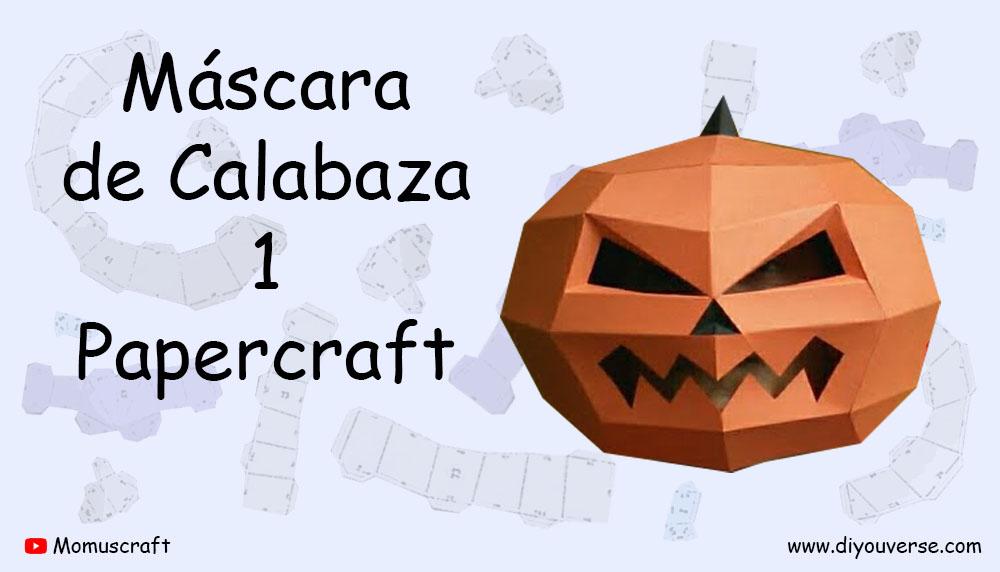 Máscara de Calabaza 1 Papercraft