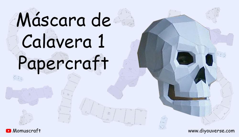 Máscara de Calavera 1 Papercraft