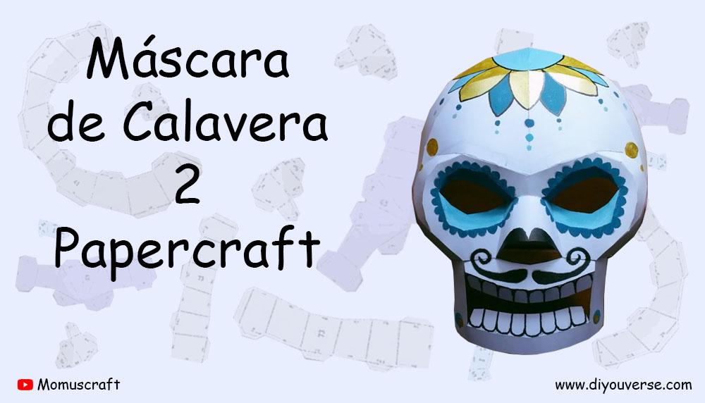 Máscara de Calavera 2 Papercraft