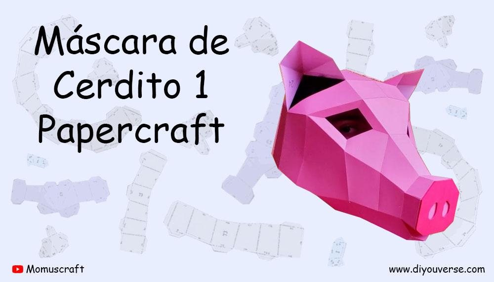 Máscara de Cerdito 1 Papercraft