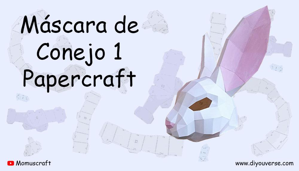 Máscara de Conejo 1 Papercraft