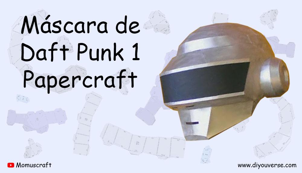 Máscara de Daft Punk 1 Papercraft