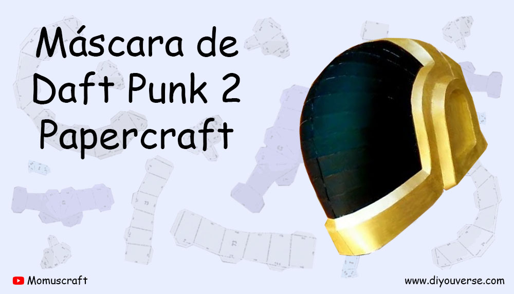 Máscara de Daft Punk 2 Papercraft