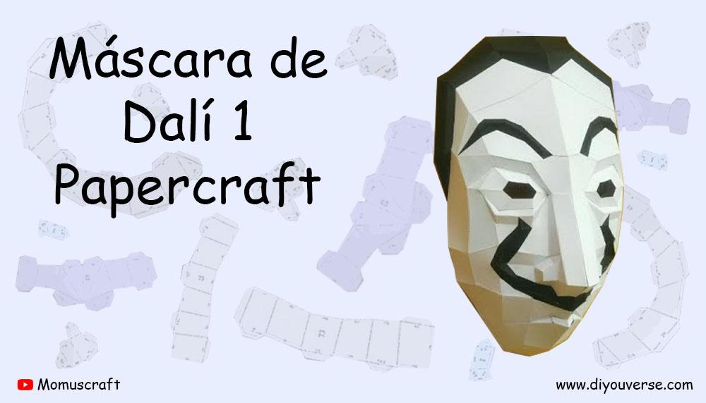 Máscara de Dalí 1 Papercraft