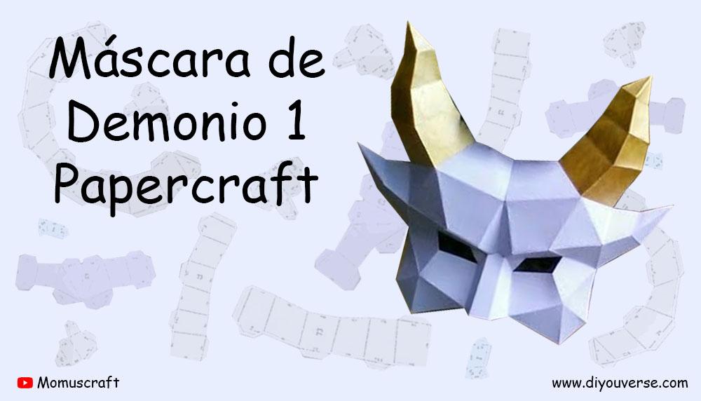 Máscara de Demonio 1 Papercraft